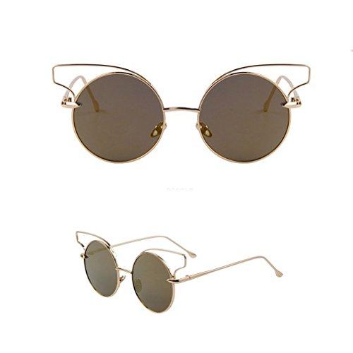 2015 Fashion Women Classic Cat Eye Sunglasses Novelty Eyewear Round Alloy Frame Crush Oculos De Sol Uv400 - Discount Illesteva Sunglasses