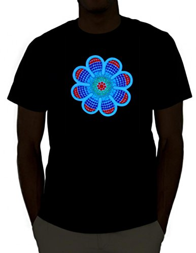 Emazing Lights Daisy Sound Activated Light Up Rave Shirt (Roger The Alien Halloween Costume)