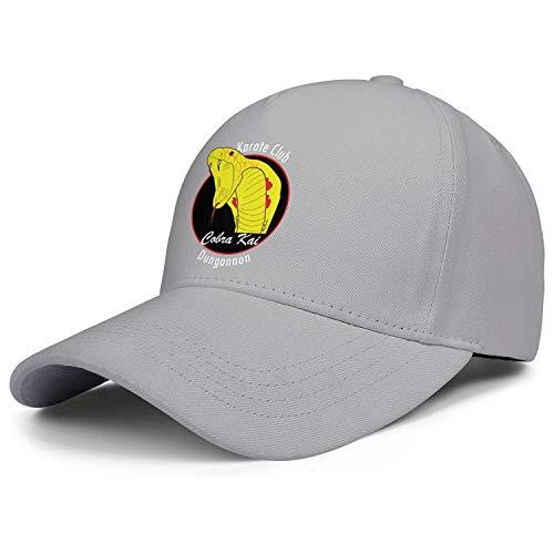 SHTHYTS Men's Snake-Cobra-Kai-Logo-Adjustable Snapback Hat Breathable Hip-hop Trucker Dad Baseball Cap -