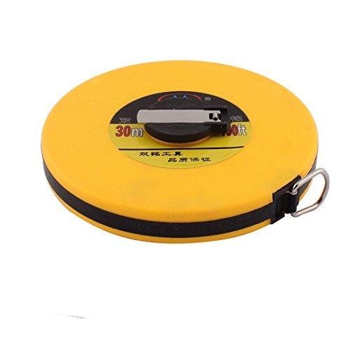DealMux Round Shaped Retractable Metric Ruler Range Measuring Tape 30 Meter Long -