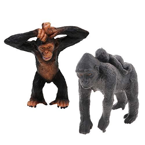 F Fityle アクションフィギュア 野生動物モデル ゴリラ 子供 おもちゃ 装飾 贈り物