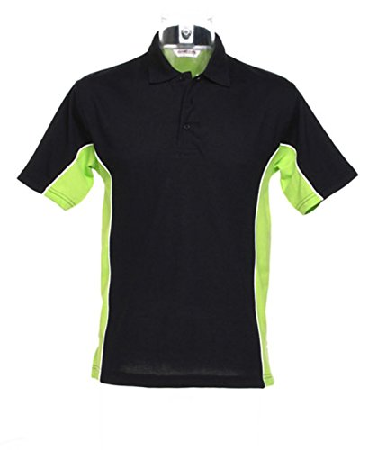 Kustom Kit–Gamegear Track Polo Shirt KK475schwarz/lime X-Large