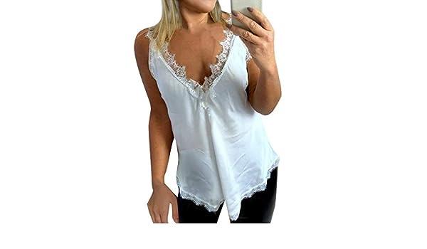 Elegant High Neck Tank Tops Causal Solid Sleeveless Shirt Leadmall Women Lace Patchwork Tops