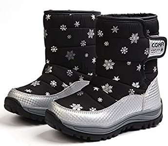 Little Kid//Big Kid Beautoday Boys Girls Outdoor Waterproof Cold Weather Winter Snow Hiking Ankle Boots