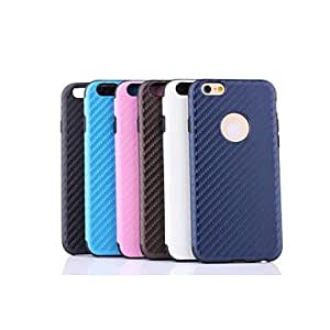 YULIN PU Leather Twill Perforated Mat Grain Design for iPhone 6 Plus (Assorted Colors) , Black
