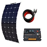 ECO-WORTHY 100 Watt Monocrystalline Bendable Lightweight Solar Module Kit for RV, Boat, Cabin, Tent, Car, Trailer, 12v Battery Charging