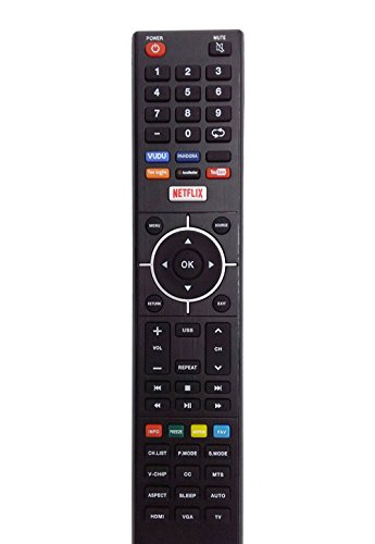 New TV Remote fit for ELEMENT 4K Smart E4SJ5516H ELEFJ322S ELSFS422 E4SFC421 E4SFC551 E4SFT551 Elst3216h E4SFC651 ELEFS403S ELSFS502 E4S4316H LED TV Remote Control with VUDU NETFLIX Keys by Vinabty