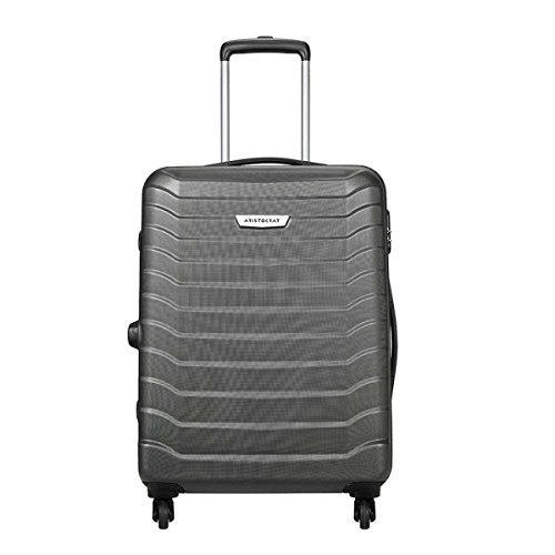 Aristocrat Juke Polycarbonate 65 cms Grey Hard Sided Suitcase (JUKE65TMGP)