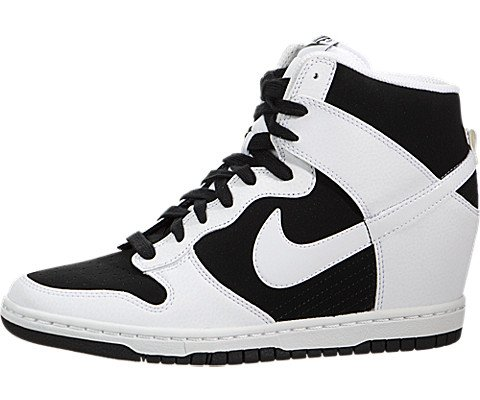 c2d30bdc541 Nike Dunk Sky Hi Essential 644877-007 White Black Hidden Wedge ...