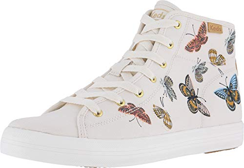 Keds Women's x Rifle Paper Co Monarch High Top Sneakers, Cream, Off White, Print, 6.5 M US]()