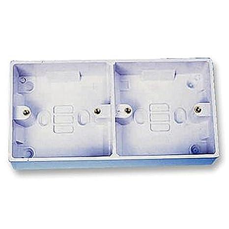 Cajas DUAL 32 mm eléctrico cajas traseras/cajas de montaje: Amazon.es: Bricolaje y herramientas