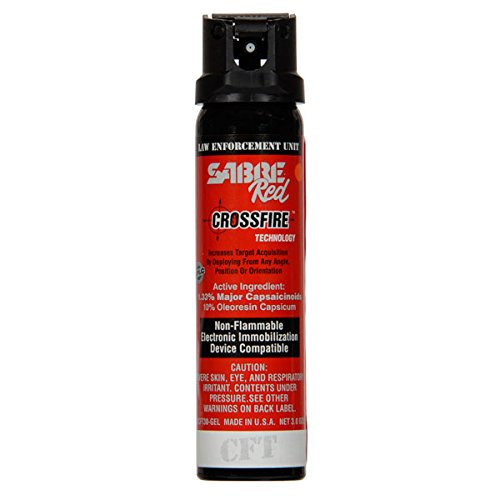 Sabre Red Crossfire Pepper Spray Gel 3 oz Expire 2023 by Sabre