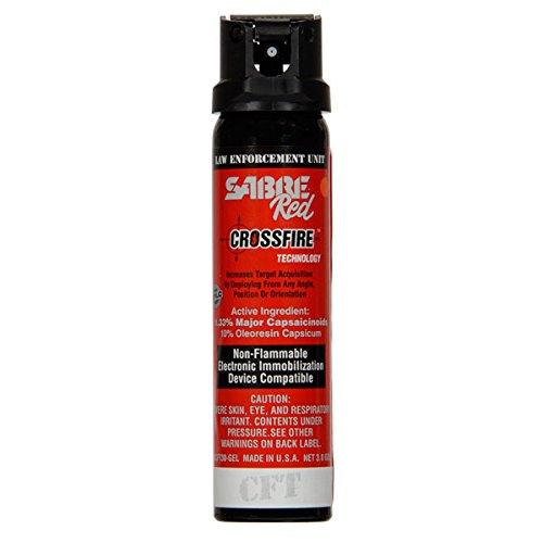 Fire Red Pepper - Sabre Red Crossfire Pepper Spray Gel 3 oz Expire 2023
