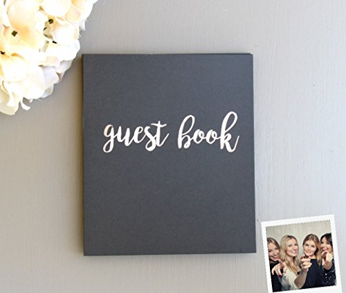Guest Book, Softcover Flat-Lay Cardstock, Compact 8.5