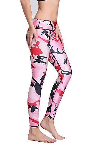 Jescakoo Printed Waistband Compression Leggings
