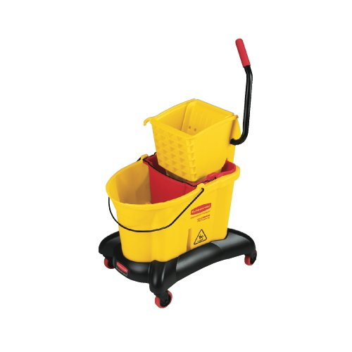 RCP7680YEL - Rubbermaid-Wave Break Dual Side Press,Yellow by Rubbermaid