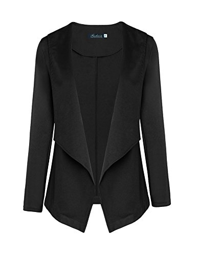 A Blues Man Women's Long Sleeve Flyaway Open Cardigan Blazer Jacket