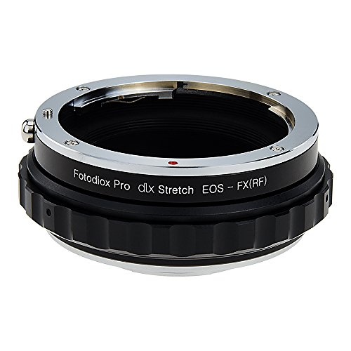 Fotodiox DLX Stretch Lens Mount Adapter - Canon EOS (EF / EF-S) D/SLR Lens to Fujifilm X-Series Mirrorless Camera Body with Macro Focusing Helicoid and Magnetic Drop-In Filters by Fotodiox
