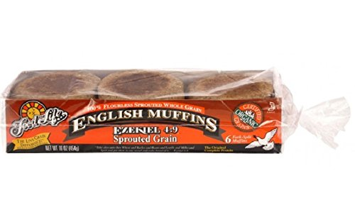 Food For Life Ezekiel 4:9 Sprouted Whole Grain English Muffins, 16 Ounce (Pack of 06) -