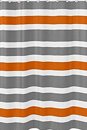 Gris, Orange et Blanc enfants de salle de bain Tissu de bain ...