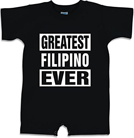Funny Baby Romper Size 12M (GREATEST FILIPINO EVER) Infant T-Shirt (Infant Filipino)