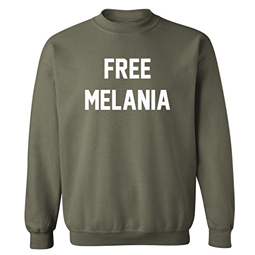 Free Melania Crewneck Sweatshirt in Military Green - Large