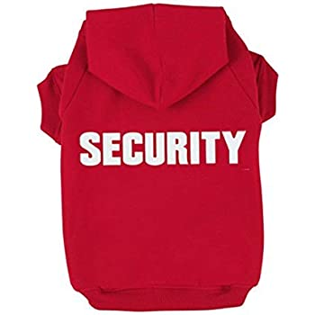 BINGPET BA1002-1 Security Patterns Printed Puppy Pet Hoodie Dog Clothes Red XL