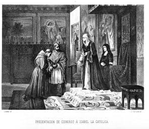 Grabado antiguo (1875) - Litografía - Presentación De Cisneros A Isabel La Católica (14x19), Serra, J.: Amazon.es: Hogar