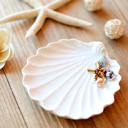 Wall of Dragon Size 14.514.52cm Mediterranean style listening to the sound of the sea Shell ceramic ashtray fruit storage dish by Wall of Dragon