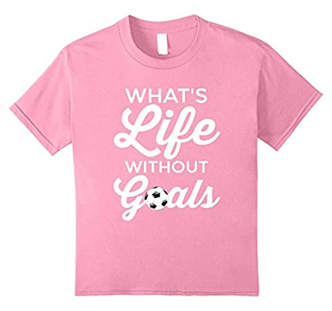 Kids Cool Girl Soccer T-shirt - Awesome Football Gift for Players 8 Pink - Play Soccer T-shirt