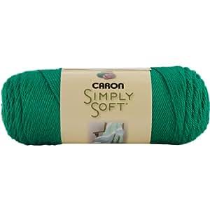 Caron Simply Soft Solids Yarn (4) Medium Gauge 100% Acrylic - 6 oz - Green -  Machine Wash & Dry