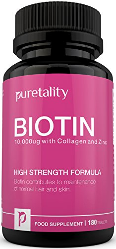 Biotin Hair Growth Supplement with Collagen, Zinc and Vitamin C, 180...