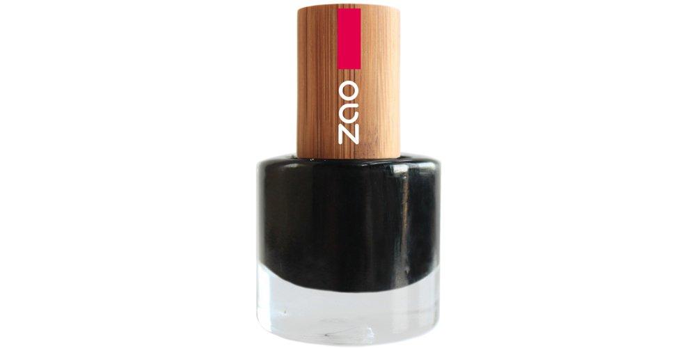 Esmalte Negro con Tapa de Bambú