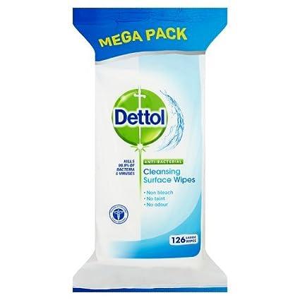 Dettol Surface Wipes Anti bacterial 126 STK antibacteriana superficies Toallitas