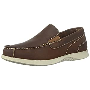 Nunn Bush Men's Bayside Venetian Slip-On Boat Shoe, Brown, 8.5 Medium US