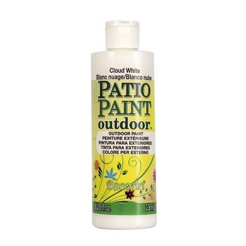 Patio Paint Oz 8 - DecoArt DCP14-9 Patio Paint, 8-Ounce, Cloud White by DecoArt