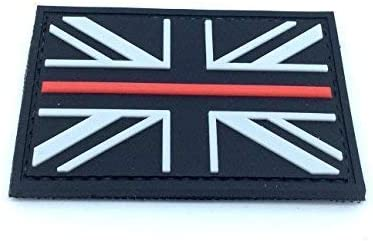 Unión negro Jack delgada línea roja bandera Airsoft PVC Parche: Amazon.es: Deportes y aire libre