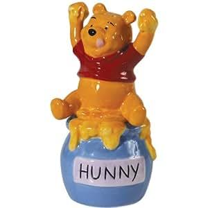 Westland Giftware Magnetic Ceramic Disney Pooh's Honey Salt and Pepper Shaker Set, 5-Inch
