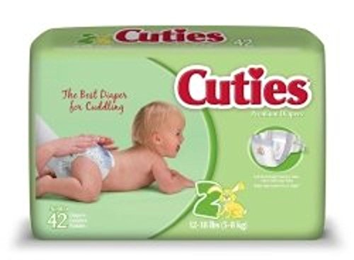First Quality Baby Diaper Cuties Tab Closure Size 2 Disposable Heavy Absorbency (#CR2001, Sold Per Case)