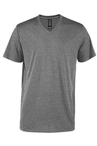 Casual Garb Men's V-Neck T Shirt Short Sleeve Tee T-Shirts for Men Elevate Series Graphite Heather ()