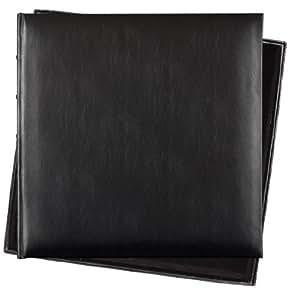 Innova Q609935 - Álbum de fotos (piel, 60 páginas, 36 x 36 cm), color negro