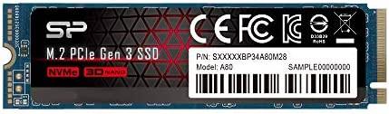 Silicon Power 512GB NVMe M.2 PCIe Gen3x4 2280 TLC R/W as much as 3,400/2,300MB/s SSD (SU512GBP34A80M28AB)