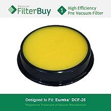 Eureka DCF25 (DCF-25) Washable & Reusable Filter, Eureka Part # 67600 & Electrolux Part # 82982. Designed by FilterBuy to fit Eureka Airspeed, SuctionSeal & Endeavor NLS.
