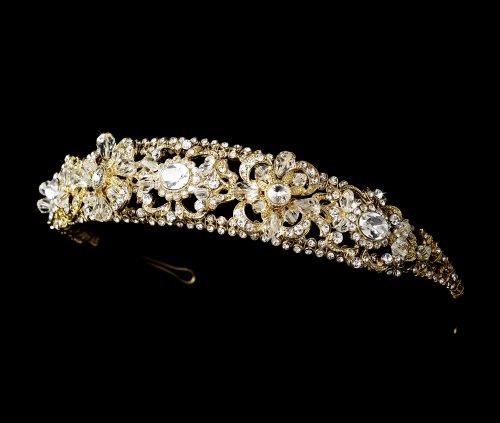 Mia Gold Swarovski Wedding Bridal Headband Tiara