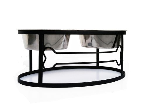 """Pet Stop Bone Double Diner - Elevated Dog Bowl - 5"""""""