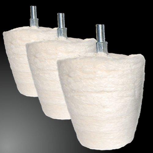 Custom Polish - Set per lucidatura, coni/sfere per lucidare cerchioni o lavorare la pasta lucidante, 3 pz
