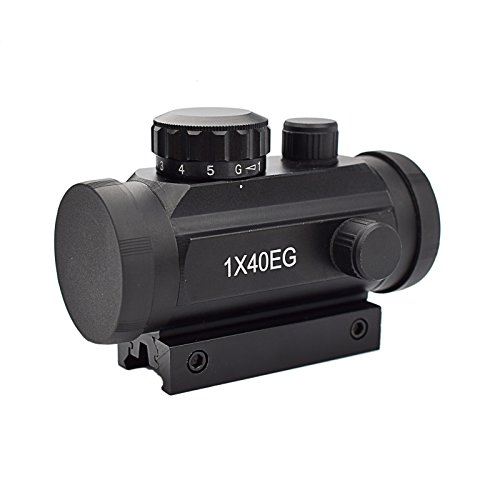 Twod Tactical 1 X 40Mm Red Green Dot Sight Rifle Scope With 11Mm 20Mm Weaver P I C A T I N N Y Mount