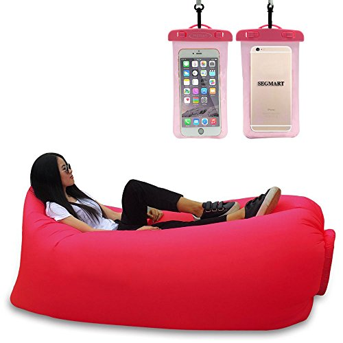 segmart-outdoor-portable-inflatable-couch-lounger-nylon-fabric-air-sofa-with-compression-sleeping-ba