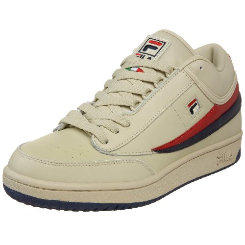 - Fila Men's t1 mid Fashion Sneaker, Cream/Peacoat/Chinese Red, 10 M US