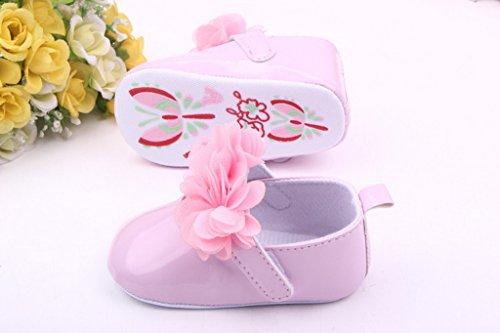 EOZY Zapatos Para Bebé Niñas Primero Paso Andar PU Artificial Rosa Otoño Pirmavera Longitud 11cm Longitud 11cm